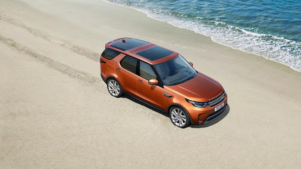 2019 Land Rover Discovery on a beach
