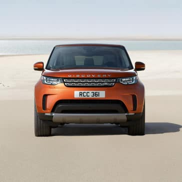 2019 Land Rover Discovery Parked on Beach Front End View