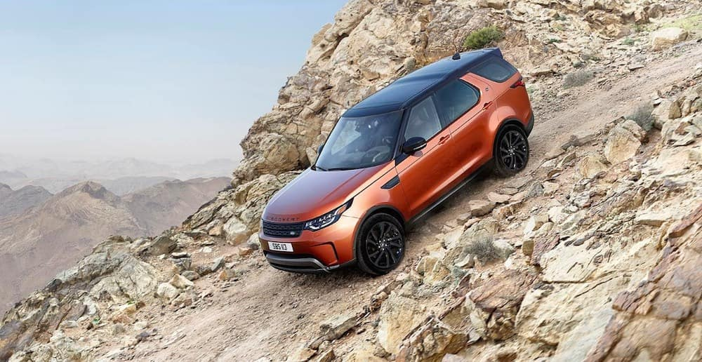 2019 Land Rover Discovery on a mountainside