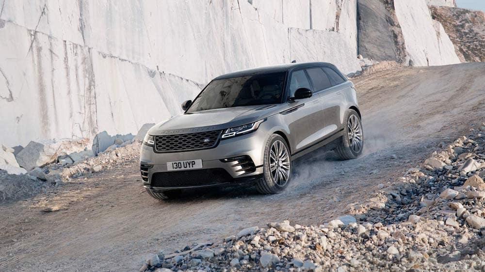 2019 Range Rover Velar off-roading among rocks