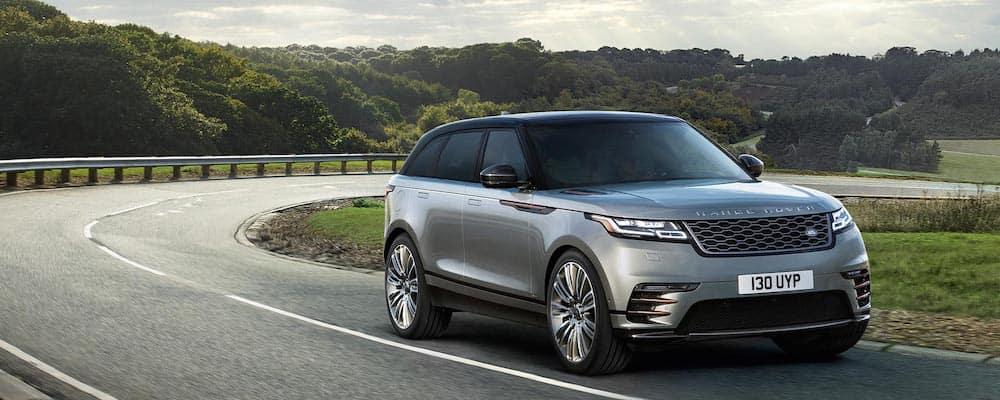 2019 Range Rover Velar in gray driving on highway