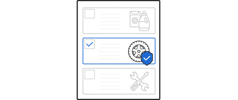 picking a protection plan on webpage icon