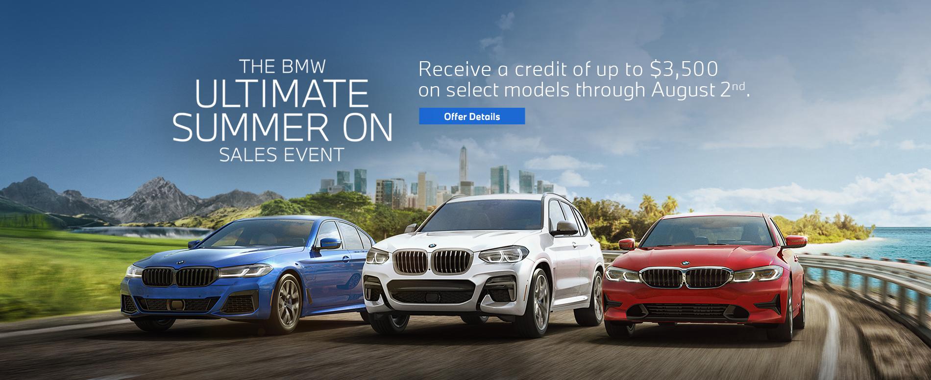 BMW Summer On Sales Event