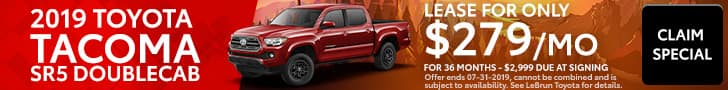 2019 Tacoma July Special Offer