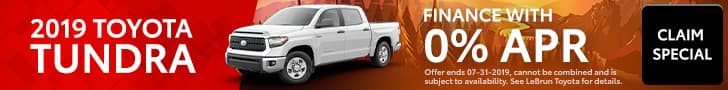 2019 Tundra July Special Offer