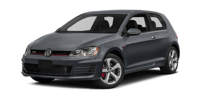 2017 Volkswagen Golf GTI white background