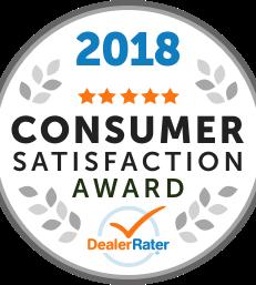 DealerRater Customer Satisfaction Award 2015, 2016, 2017 & 2018!