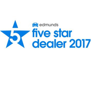 Edmunds 5 Star Dealer 2014, 2015, 2016 & 2017!