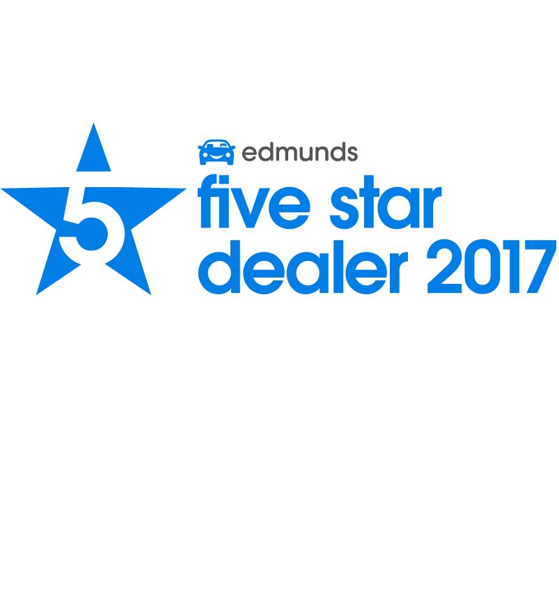 edmunds 5 STAR DEALER 2014, 2015, 2016, 2017 & 2018!