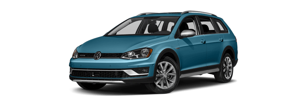 2017 Volkswagen Golf Alltrack white background
