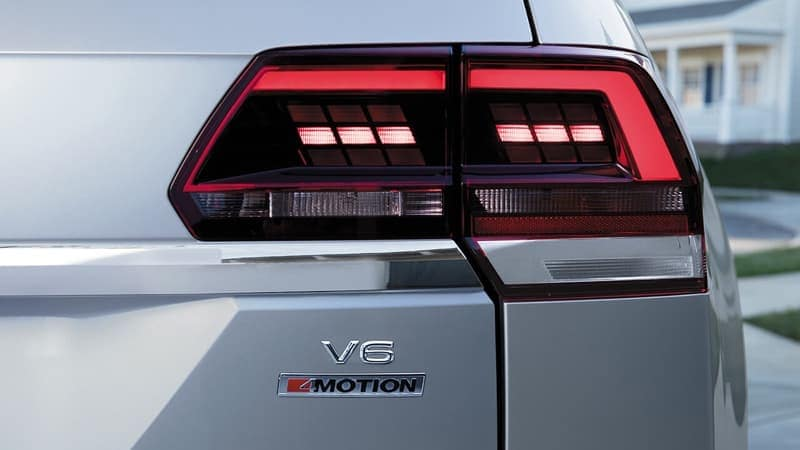 2018 Volkswagen Atlas taillight up close