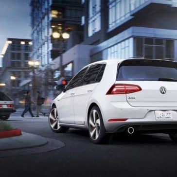 2018 Volkswagen Golf GTI white exterior