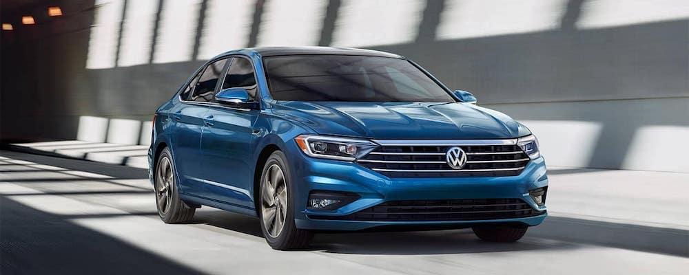 2019 Volkswagen Jetta blue driving