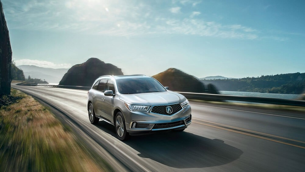 2017 Acura MDX on the road