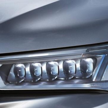 2017 Acura MDX headlight up close