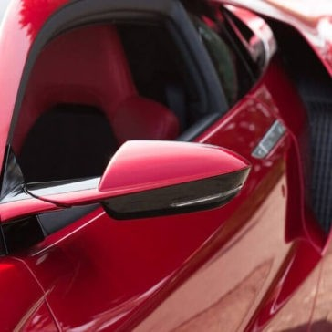 2017 Acura NSX mirror up close