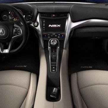 2017 Acura NSX front interior