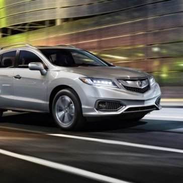 2018 Acura RDX night drive