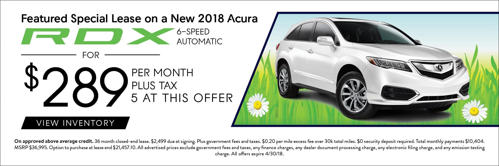 2018 Acura RDX Lease Offers