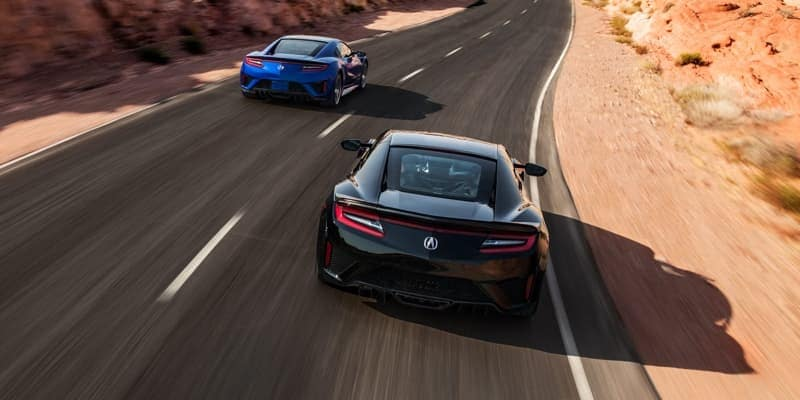 2018 Acura NSX rear view