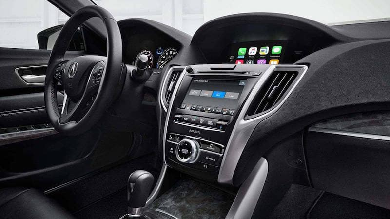 TLX dashboard and steering wheel