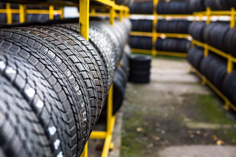 Rows of tires