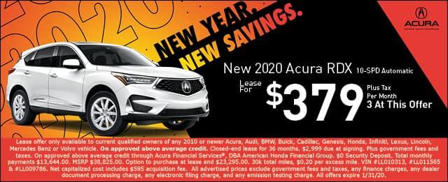 New 2020 Acura RDX
