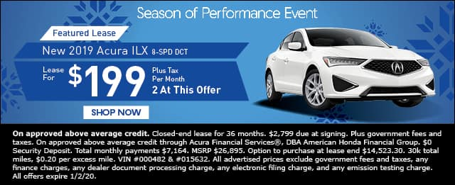 New 2019 Acura ILX 8-Speed DCT