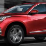Red 2021 Acura RDX