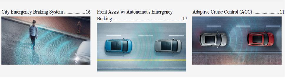 2018 VW Atlas Emergency Braking System