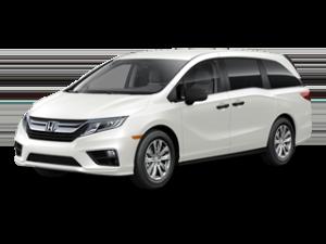 White Honda Oddyssey