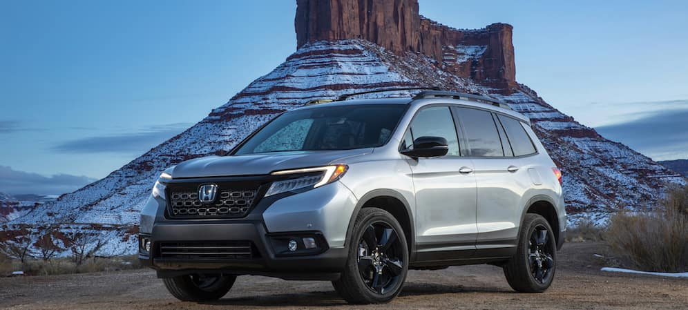 2019 Honda Passport at Base of Mountain
