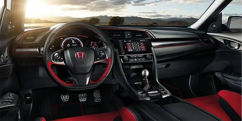 2019 Honda Civic Type R Interior Front Seating and Dashboard