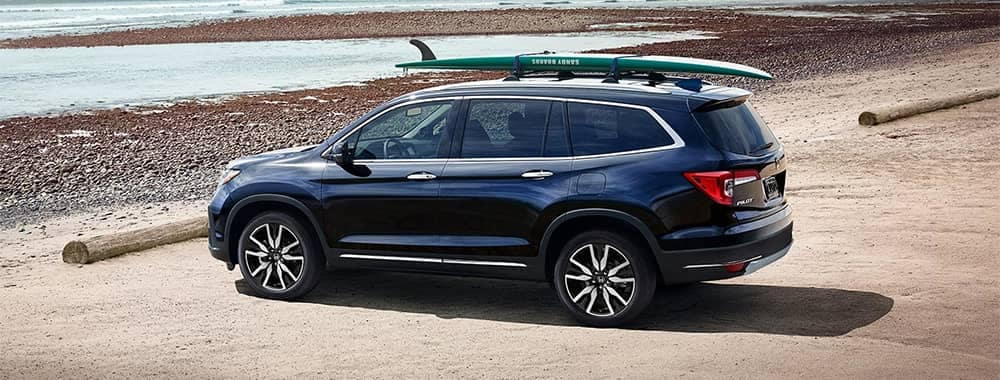 Honda Pilot Parked at Beach