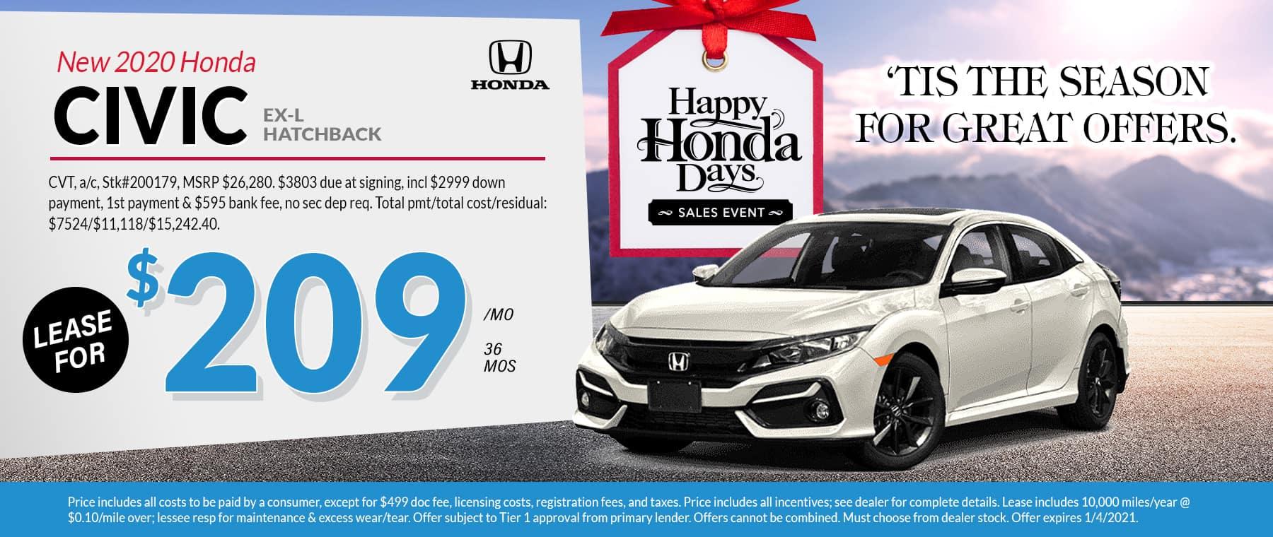 2020 Honda Civic November 2020