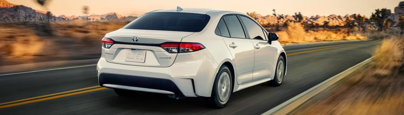 2020 toyota corolla white on road