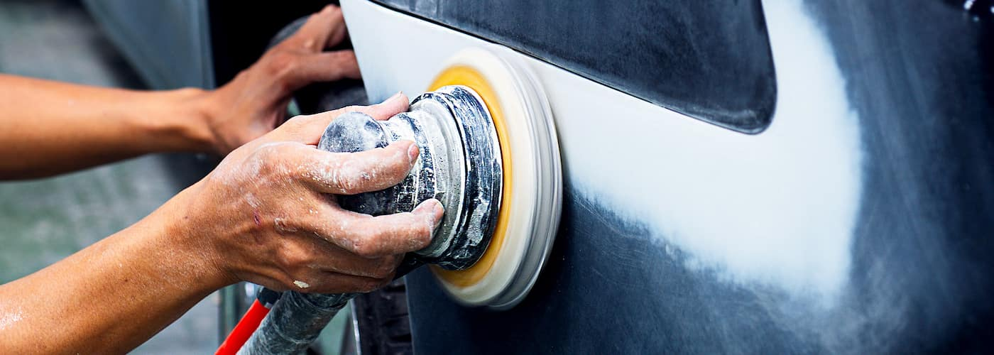 buffing out car scratches and dents