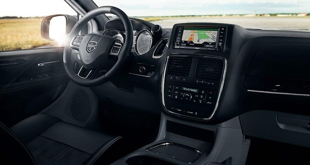 2019 dodge grand caravan black interior dashboard view