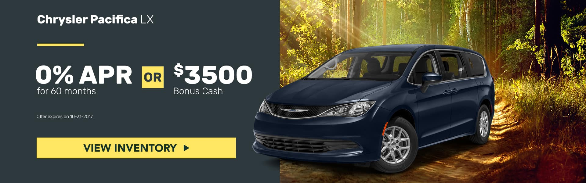 Chrysler Pacifica October Offer Mancari's