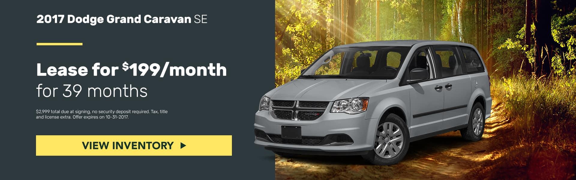 Dodge Grand Caravan October Offer Mancari's