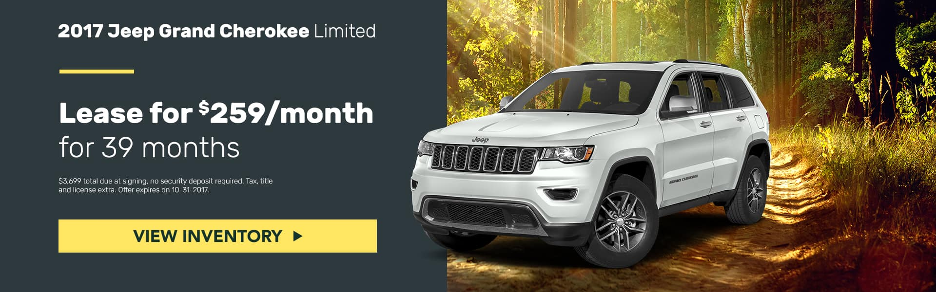 Jeep Grand Cherokee October Offer Mancari's