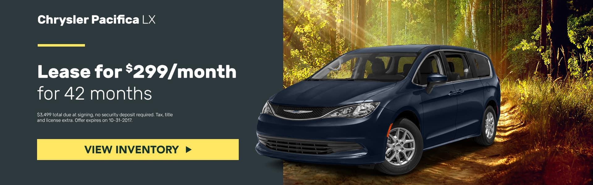 Chrysler Pacifica October Offer Mancari's