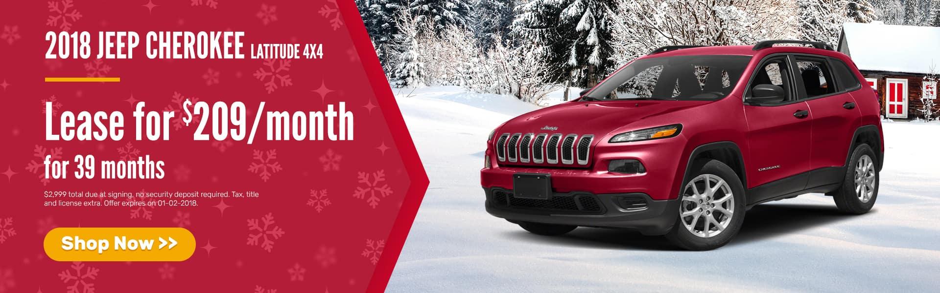Jeep Cherokee December Offer Mancari's