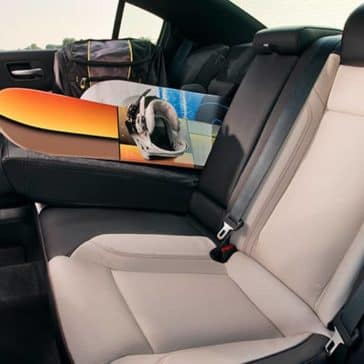 2018 Dodge Charger rear seating and fold down seat