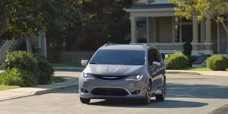 2018 Chrysler Pacifica in suburban residential  street
