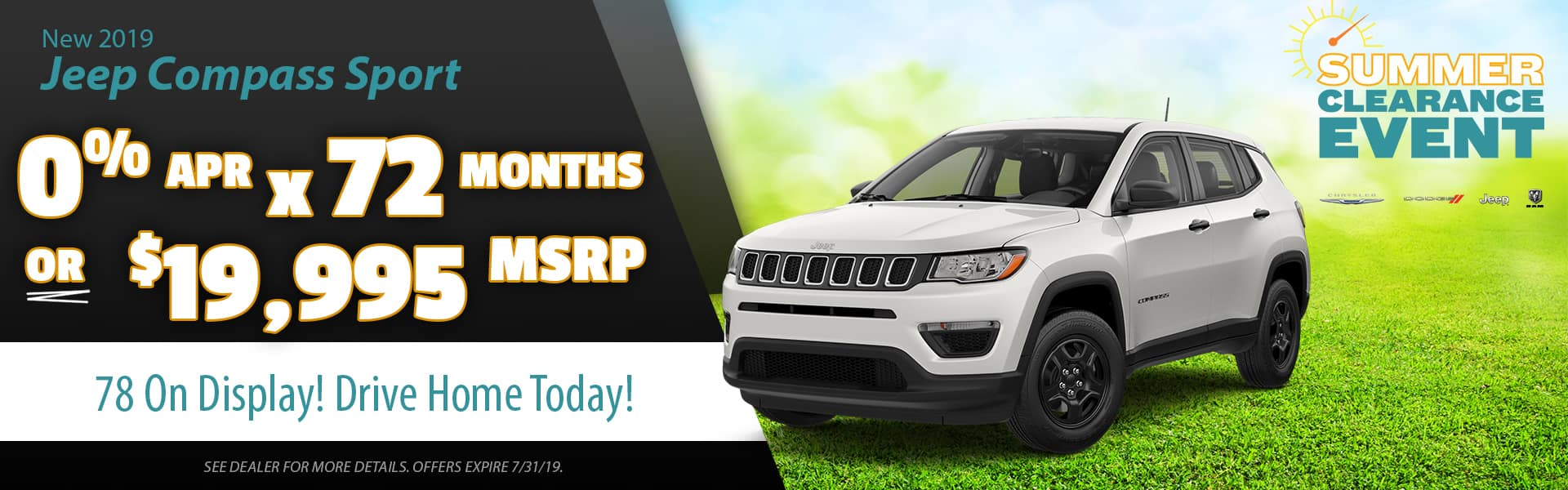 Jeep Compass Clearance deals
