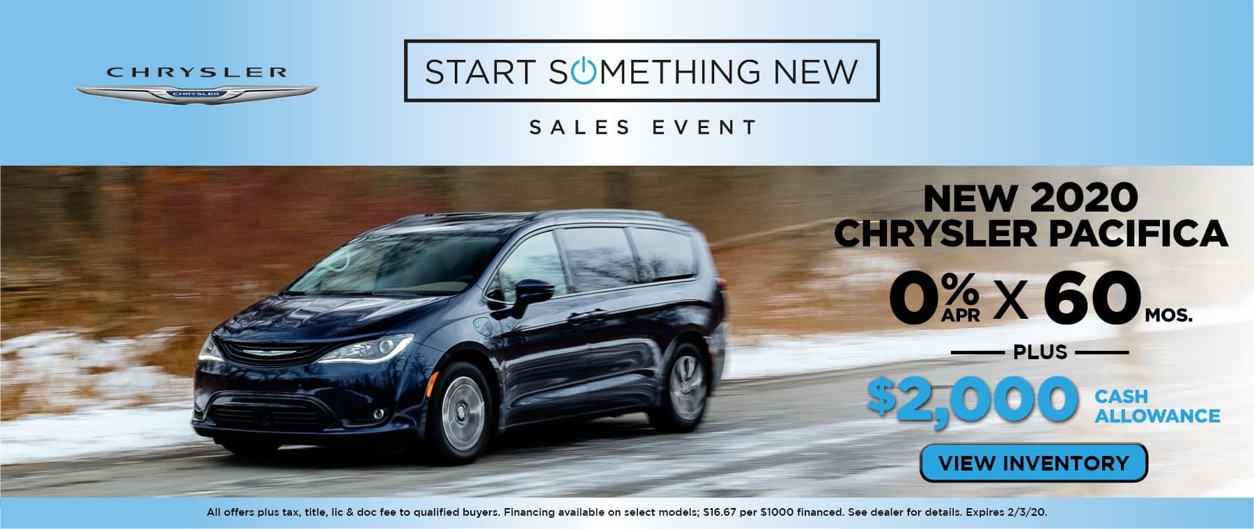 New 2020 Chrysler Pacifica