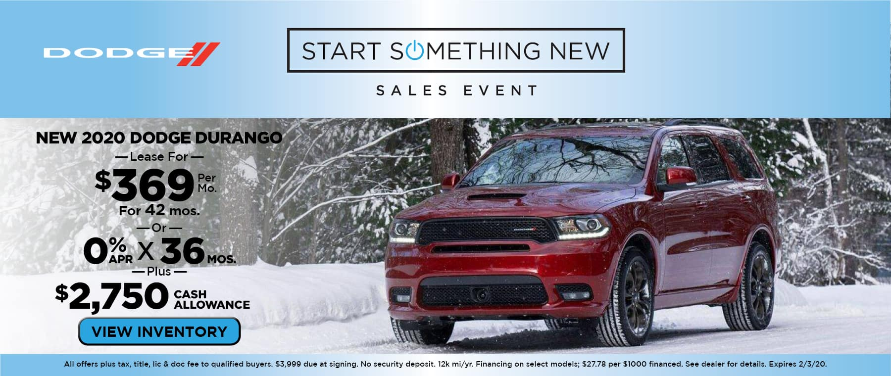 New 2020 Dodge Durango