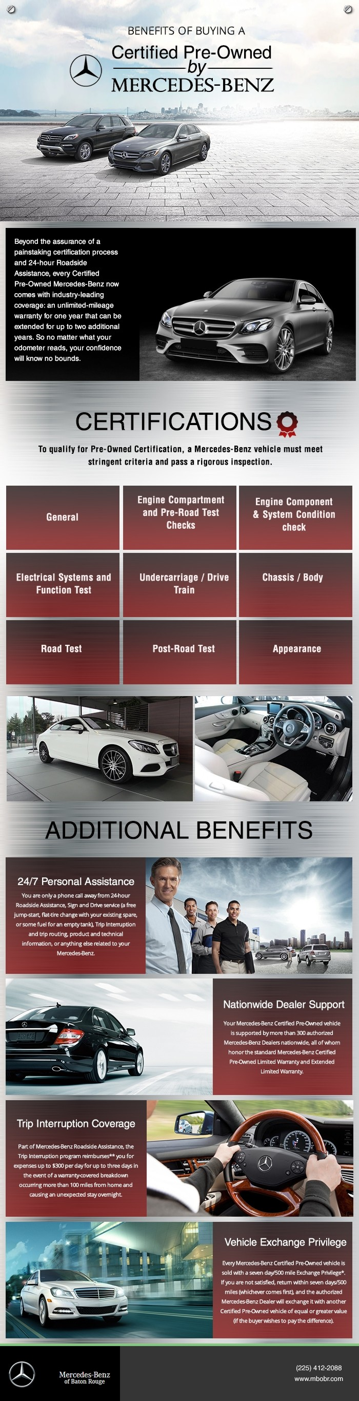 Benefits of buying a certified pre owned mercedes benz for Mercedes benz baton rouge service