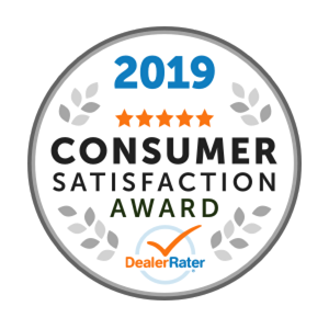 2019 DealerRater Consumer Satisfaction Award